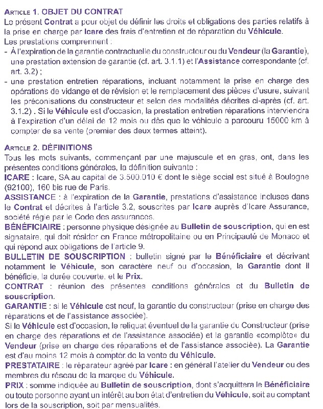 Contrat d 39 entretien icare page 2 touranpassion for Exemple contrat entretien espaces verts