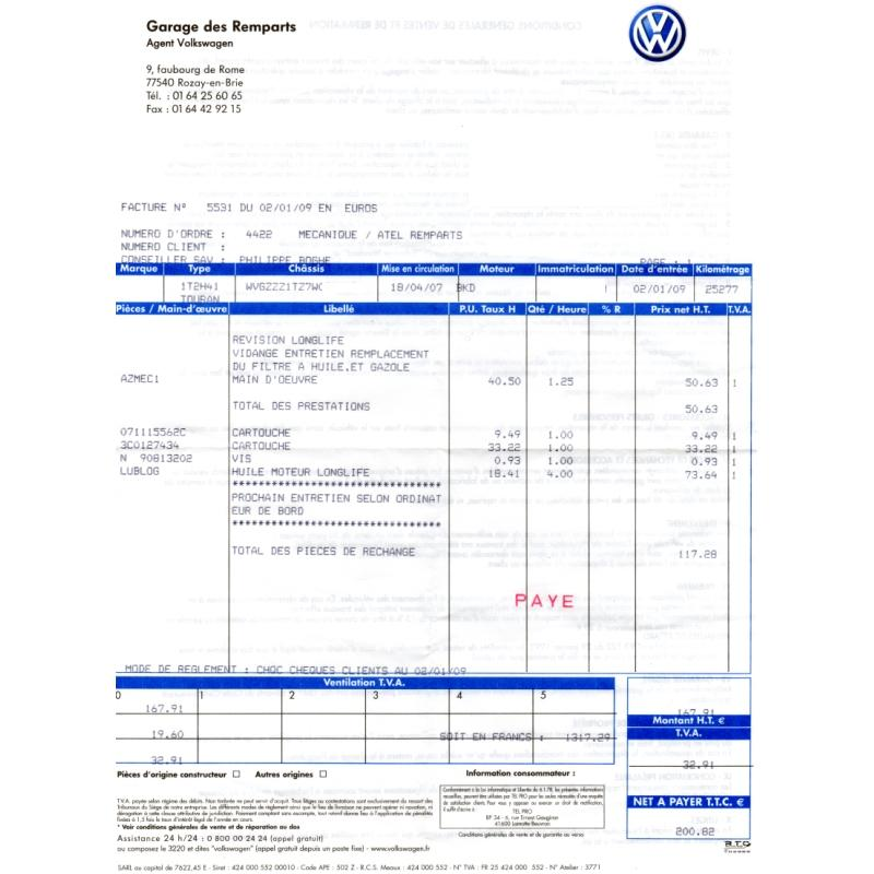 modele facture garage automobile document online